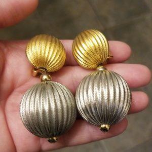 Vtg. Statement Clip Earrings